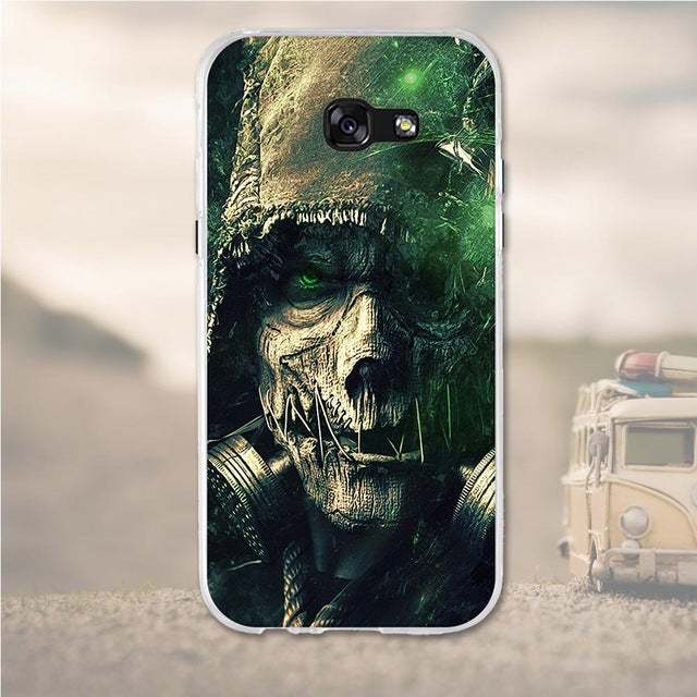 Zombie Soldier Samsung Galaxy A7 2017 Cell Phone Protective Case Cover