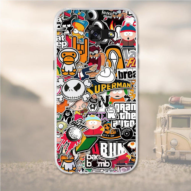 Cartoon Mix Samsung Galaxy A3 2017 Cell Phone Protective Case Cover