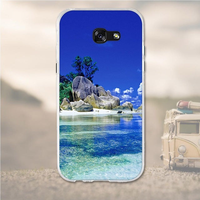 Island Samsung Galaxy A7 2017 Cell Phone Protective Case Cover