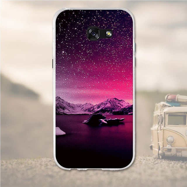 Night Sky Samsung Galaxy A7 2017 Cell Phone Protective Case Cover