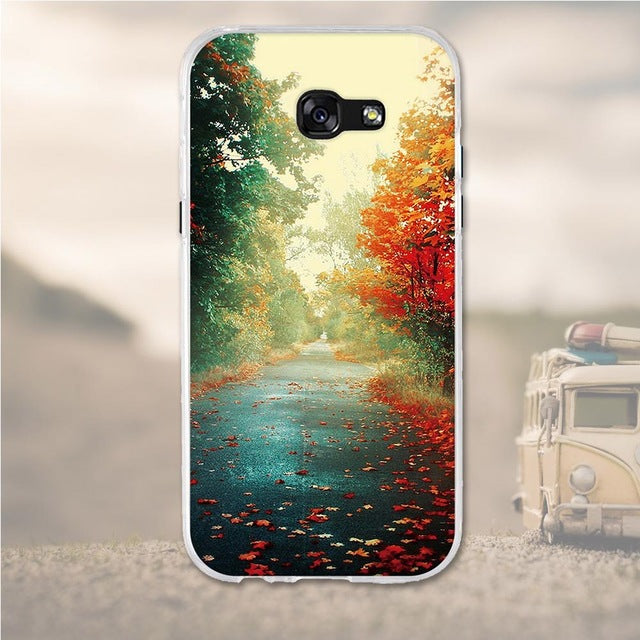 Fall Season Samsung Galaxy A7 2017 Cell Phone Protective Case Cover