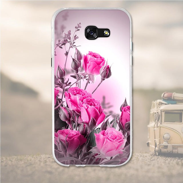 Rose Bundle Samsung Galaxy A7 2017 Cell Phone Protective Case Cover