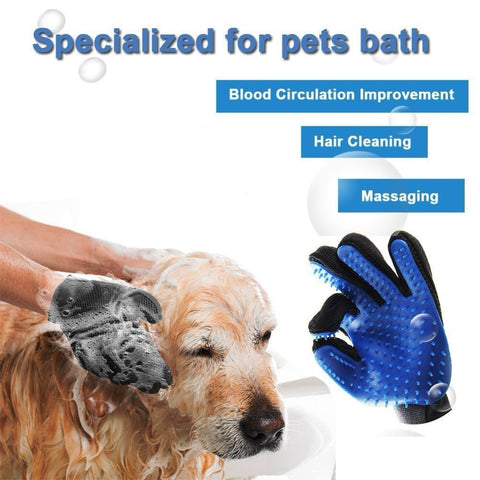 Image of Pet Grooming Deshedding Brush Glove (for Cats/Dogs)
