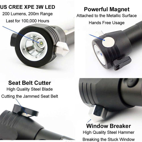 Image of 10 in 1 Multifunction Rechargeable Solar Powerful LED Flashlight