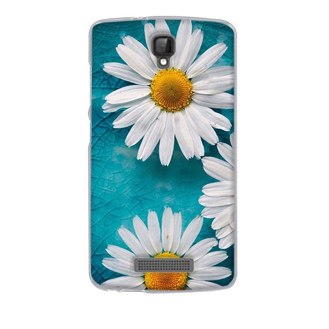 White Flowers ZTE Blade L5 Plus Cell Phone Protective Case Cover