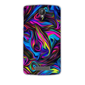 Multicolored Swirls ZTE Blade L5 Plus Cell Phone Protective Case Cover