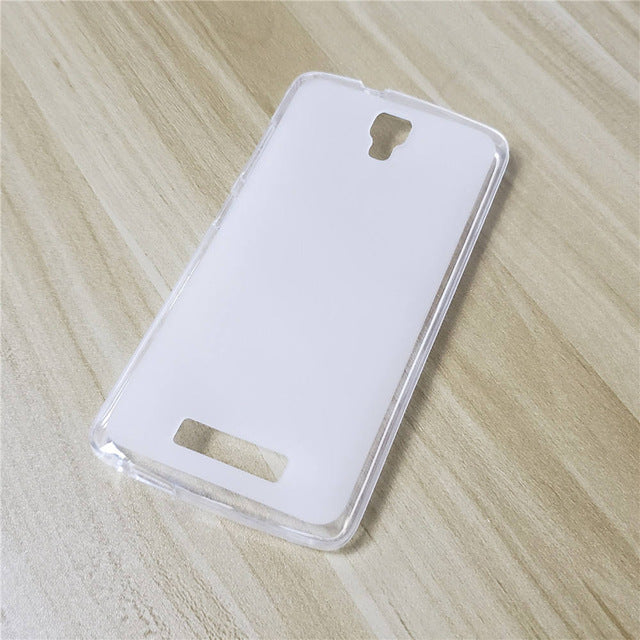 White Clear ZTE Blade L5 Plus Cell Phone Protective Case Cover