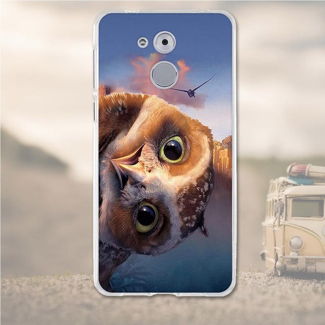 Owl Face Huawei Nova Honor 6C Cell Phone Protective Case Cover