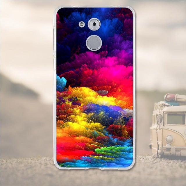 Multicolored Clouds Huawei Nova Honor 6C Cell Phone Protective Case Cover