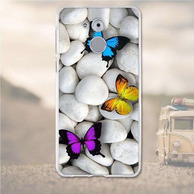 Butterfly Stone Huawei Nova Honor 6C Cell Phone Protective Case Cover