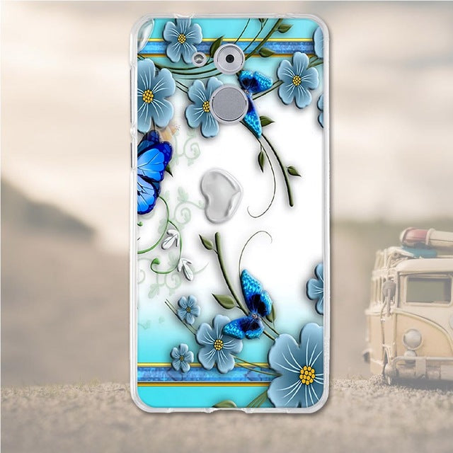 Butterfly Flower Huawei Nova Honor 6C Cell Phone Protective Case Cover