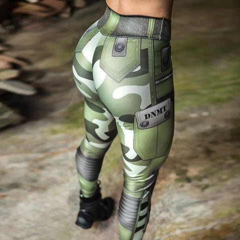 Image of Camouflage Print High Waist Push Up Leggings