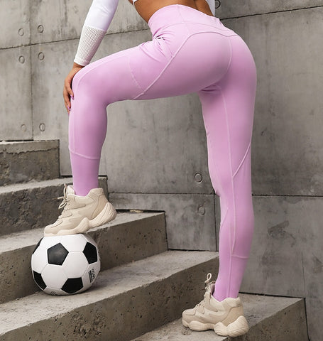 Sports Patchwork High Waist Push Up Exercise Leggings