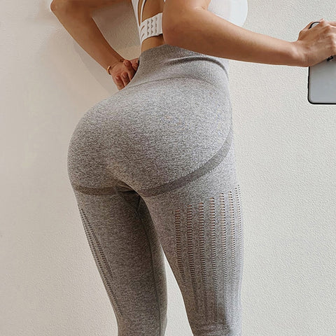 Image of High Waist Push Up Seamless Workout Leggings