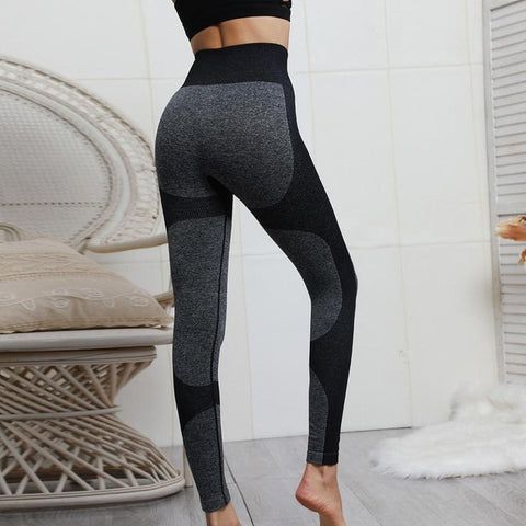 Image of High Waist Push Up Fitness Seamless Leggings
