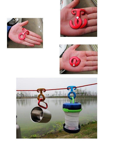 Image of Aluminum Rope Hanger Multifunction Outdoor Camping