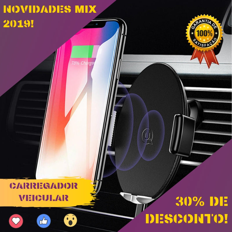 Carregador Wireless Fast Veicular