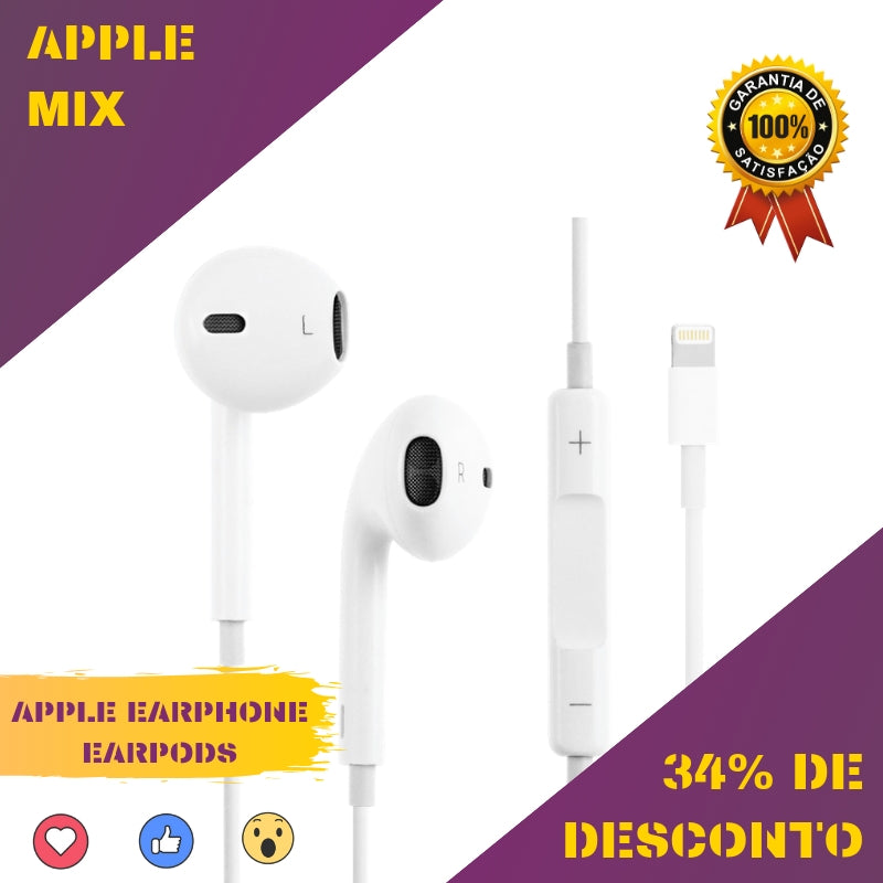 APPLE EARPHONE LIGHTNING EARPODS