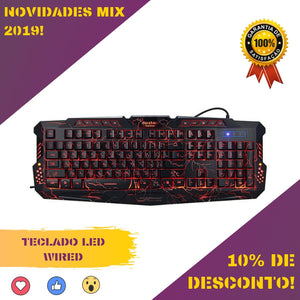 Teclado LED Wired