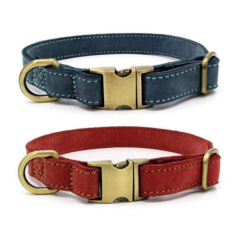 Adjustable Leather Pet Dog Collar With Buckle | Uspetsuper store
