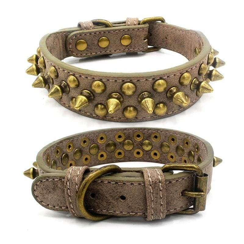 Adjustable Leather Punk Rivet Dog Collar | Uspetsuper store