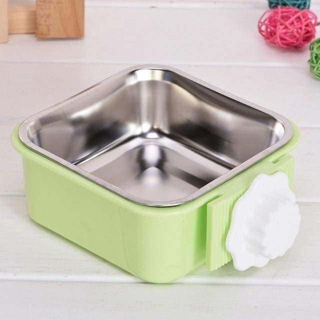 Cage Removable Easy Cleaning Food Water Bowl For Pet Dog Cat - GREEN / United States - uspetsuperstore