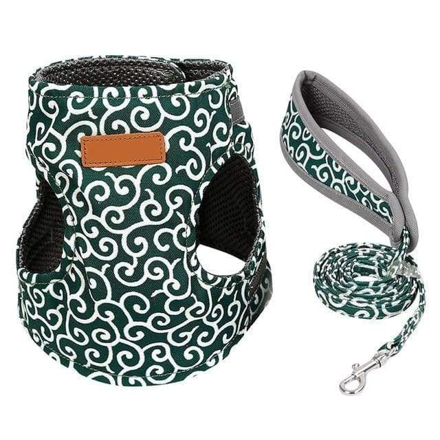 Cat Jacket Harness and Leash - Green / S / United States - uspetsuperstore