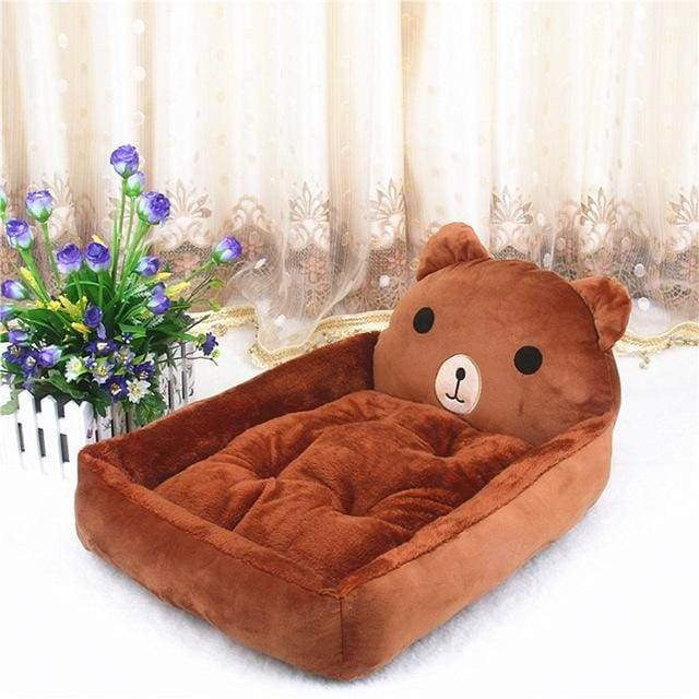 Cute Cartoon Shaped Pet Sofa Kennels For Dog Cat - Brown Bear / S 50x40x12cm - uspetsuperstore