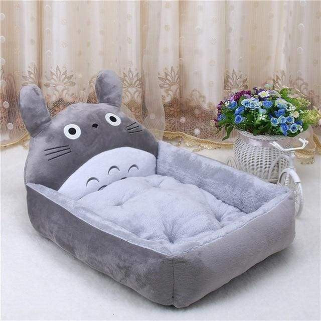 Cute Cartoon Shaped Pet Sofa Kennels For Dog Cat - Grey Totoro / S 50x40x12cm - uspetsuperstore