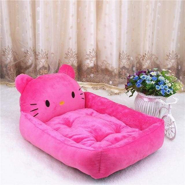 Cute Cartoon Shaped Pet Sofa Kennels For Dog Cat - Rose red Kitty / S 50x40x12cm - uspetsuperstore