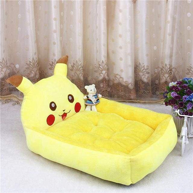 Cute Cartoon Shaped Pet Sofa Kennels For Dog Cat - Yellow Pikachu / S 50x40x12cm - uspetsuperstore