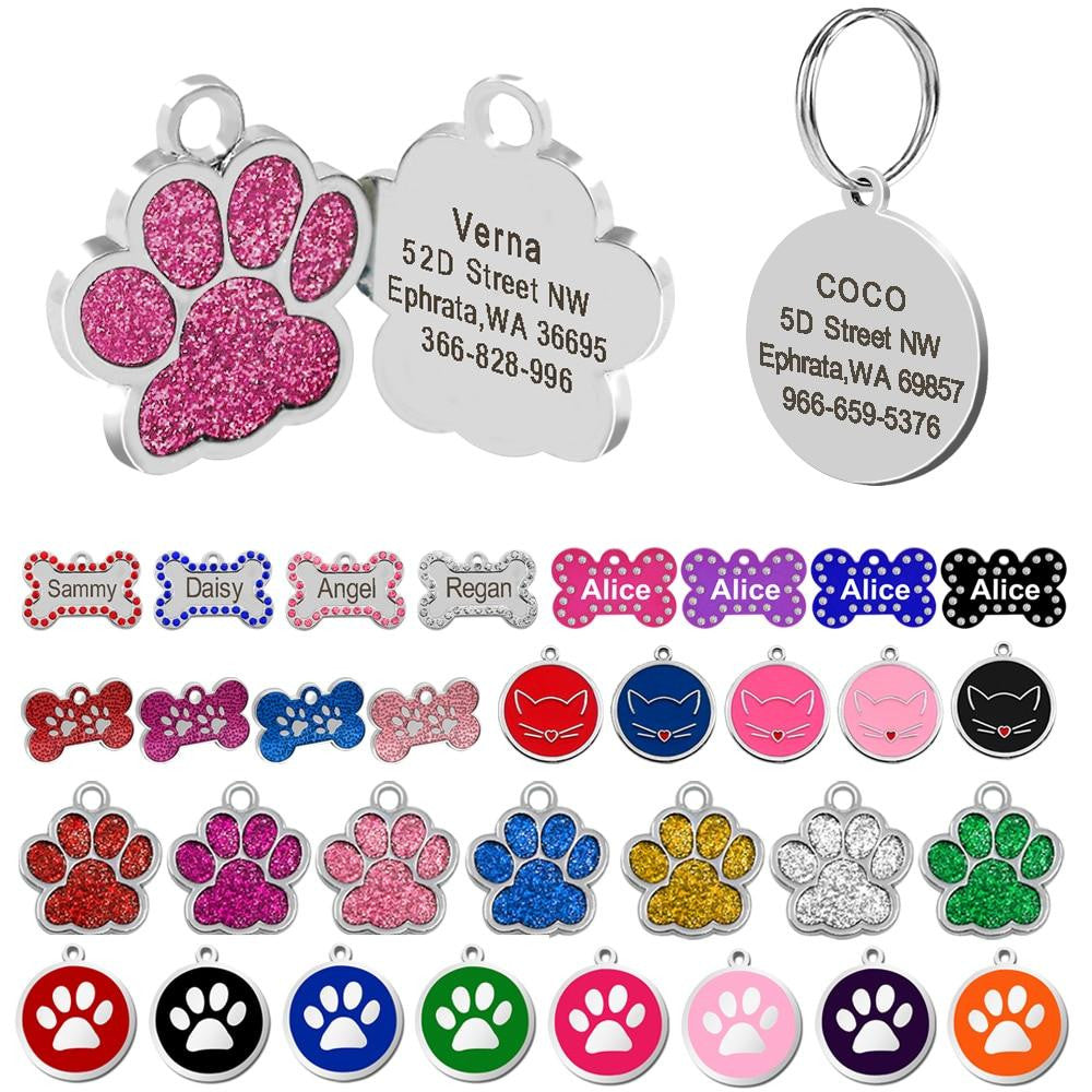 Engraving Dog ID Tags Pet Collar Accessories