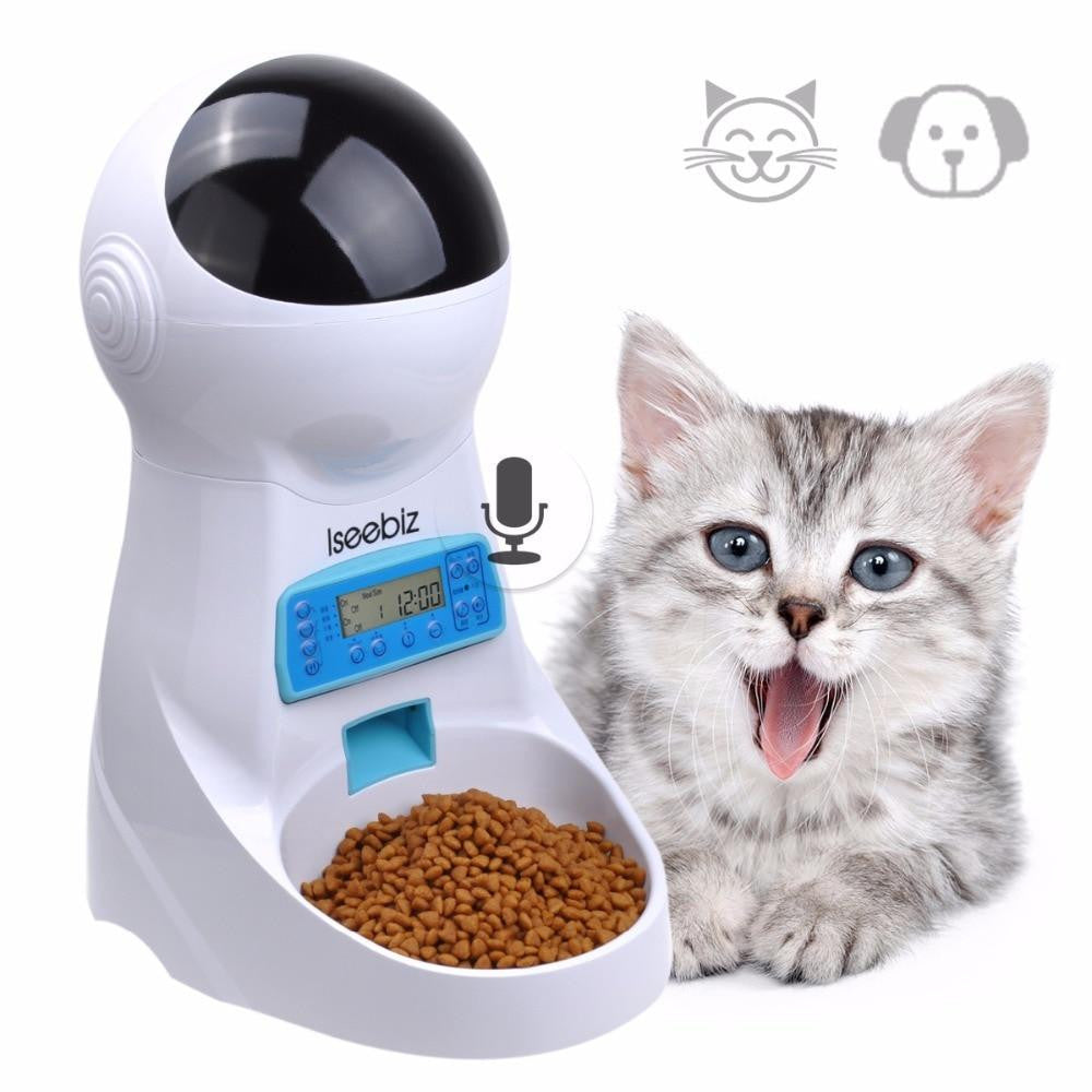 WiFi Control Automatic Pet Food Feeder with Voice Recording | Uspetsuper store