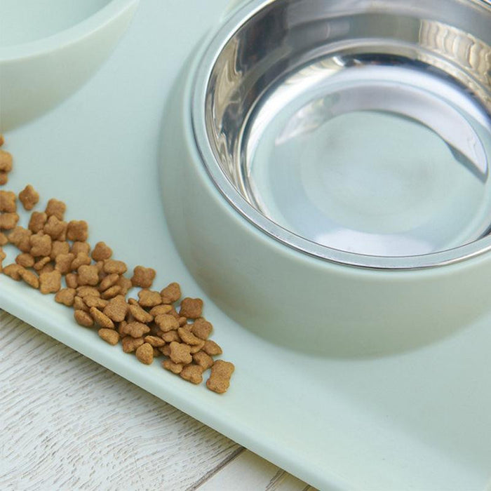 Dual Stainless Stainless Pet Food Bowl For Dog Cat | Uspetsuper store