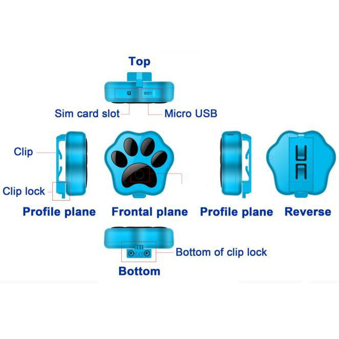 Smart Wireless Remote GPS Tracker Collar For Dog Cat | Uspetsuper store