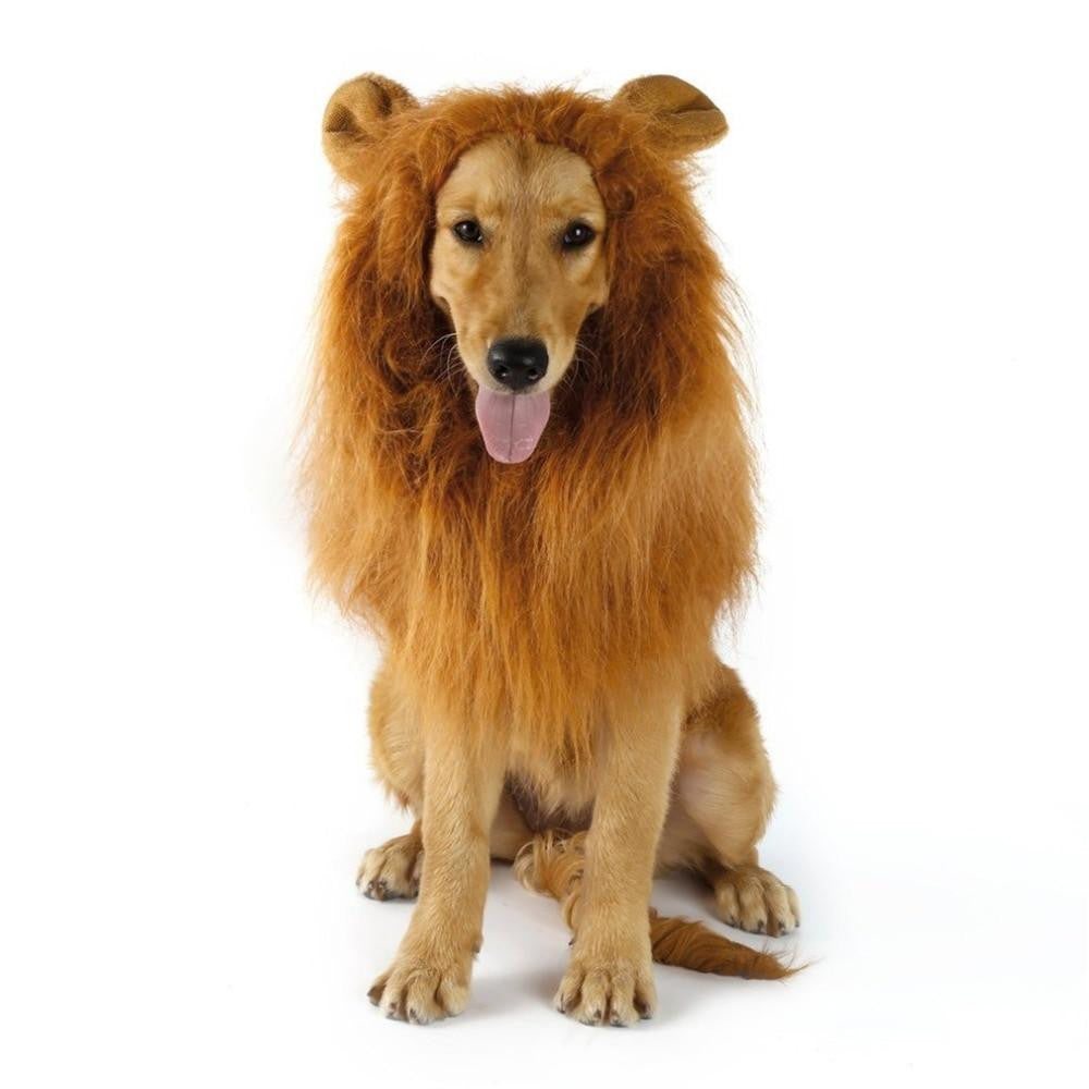 Lion Mane Wig With Ears Fancy Dress Up Costume For Cat Dog Clothing | Uspetsuper store