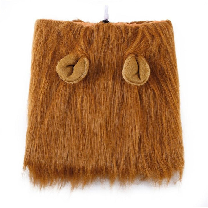 Lion Mane Wig With Ears Fancy Dress Up Costume For Cat Dog