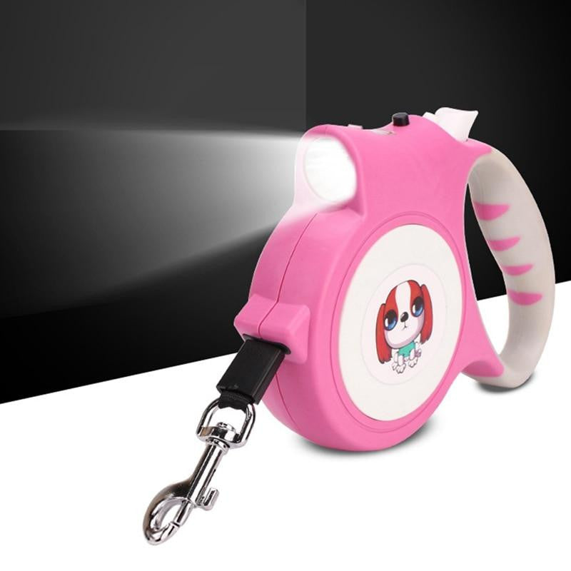 Pet Leash With Light Automatic Expansion