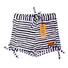 Bronte - Girls Black & White Stripe Swim Shorts