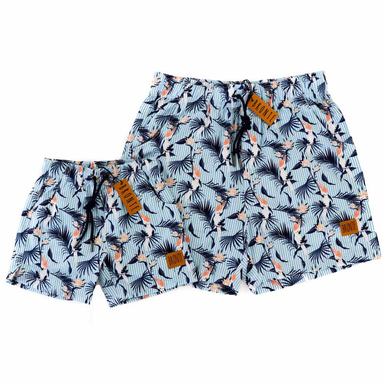 Bronte - Father/Son Hello Cocky Board Shorts Combo