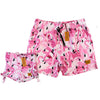 Bronte - Father/Daughter Pink Flamingo Swim Shorts Combo