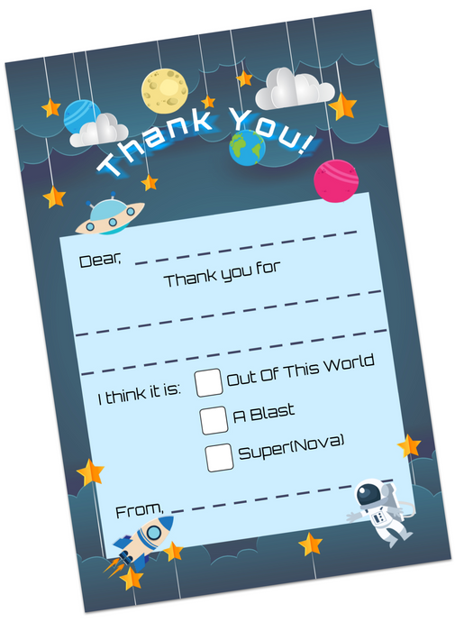 Space Adventure Thank You Cards