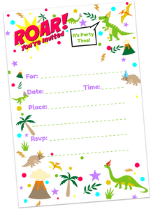 Dino-mite Birthday Invitations