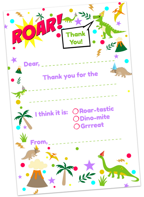 Dino-mite Thank You Cards