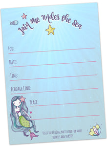 Mermaids Birthday Invitations