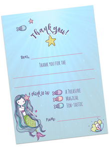 Mermaid Thank You Cards