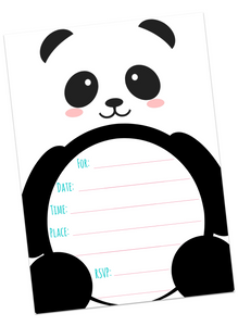 Panda Invitations & Thank You Cards
