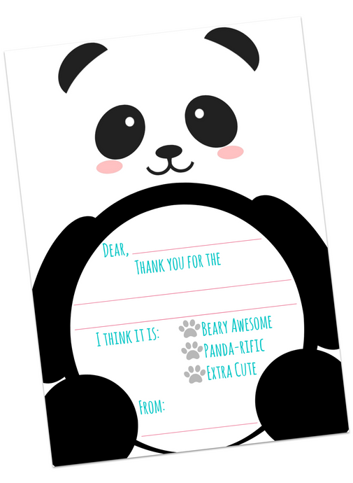 Panda Thank You Cards