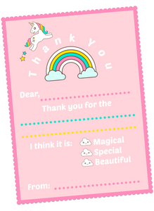 Unicorn Invitations & Thank You Cards