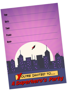 Super Hero Invitations & Thank You Cards